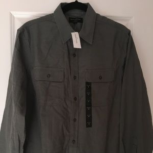 Banana Republic Standard Fit Grey Medium Shirt